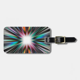 Starburst explosion pattern bag tag