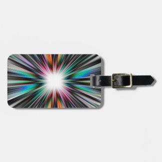 Starburst explosion pattern luggage tag