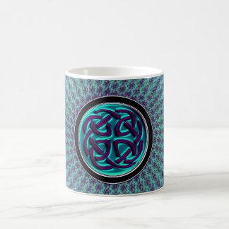 Starburst Fractal Mandala Celtic Knot Basic White Mug