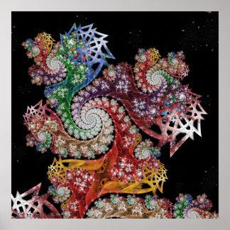 Starburst Galaxy Coaster Poster