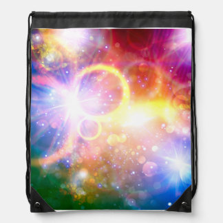 Starburst Galaxy Colorful Drawstring Backpack