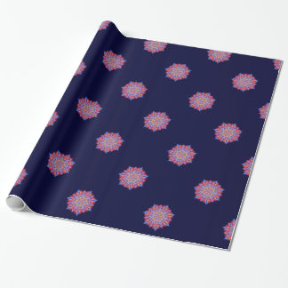 Starburst on dark blue wrapping paper