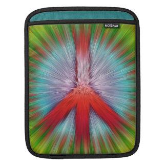 Starburst Peace Sign iPad Sleeve