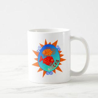 Starburst Pisces Coffee Mugs