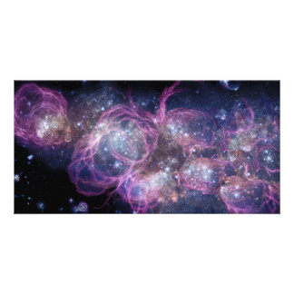 Starburst Stellar Fireworks Finale Outer Space Photo Greeting Card