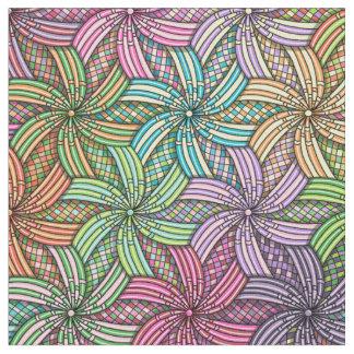 Starburst Swirls Patterned Fabric