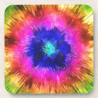 Starburst Tie Dye Watercolor Coaster