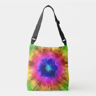 Starburst Tie Dye Watercolor Crossbody Bag