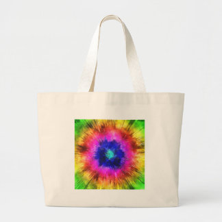 Starburst Tie Dye Watercolor Large Tote Bag