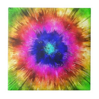Starburst Tie Dye Watercolor Tile