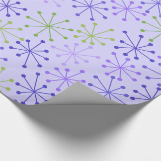 Starbursts Purple Wrapping Paper