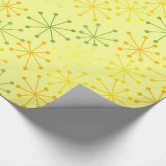 Starbursts Yellow Wrapping Paper
