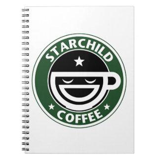 Starchild Coffee Spiral Note Book