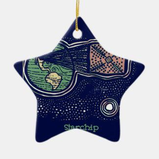 Starchip Ceramic Ornament
