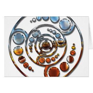 Stardrive-Chrome Crop Circle Greeting Card