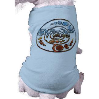 Stardrive-Chrome Crop Circle Sleeveless Dog Shirt