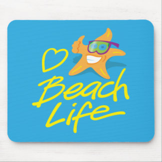 StarDude Heart Beach Life Mouse Pad