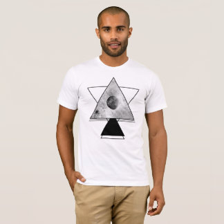 Stardust and Moon - Triangle Design T-Shirt