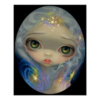 Stardust Angel ART PRINT big eyed art big eyes