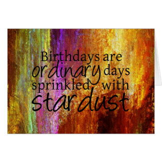 Stardust Sprinkled Birthday Card