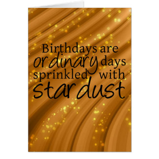 Stardust Sprinkled Birthday Card