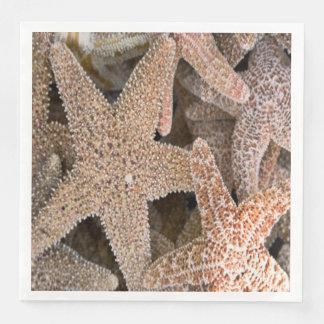 Starfish all around paper napkins