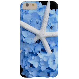 Starfish and Blue Hydrangea Smartphone Barely There iPhone 6 Plus Case