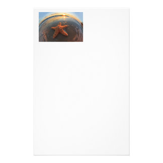 Starfish and Bubbles at Sunset Custom Stationery