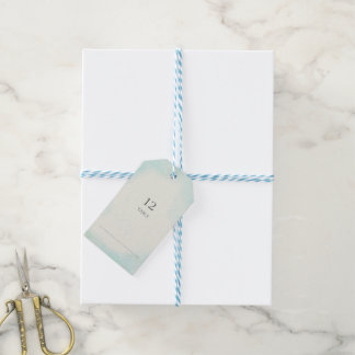 Starfish and Lace Aqua Seating Gift Tags