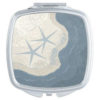 Starfish and Ocean Mirror For Makeup