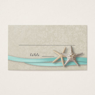 Starfish and Ribbon Place card