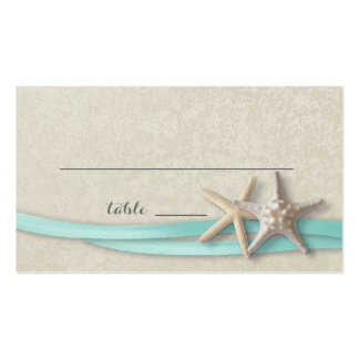 Starfish and Ribbon Place card Pack Of Standard Business Cards