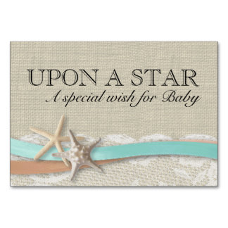 Starfish and Ribbon Wish For Baby Card