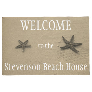 Starfish and Sand Ocean Summer Beach House Welcome Doormat