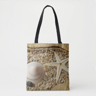 Starfish and Sea shell Tote Bag