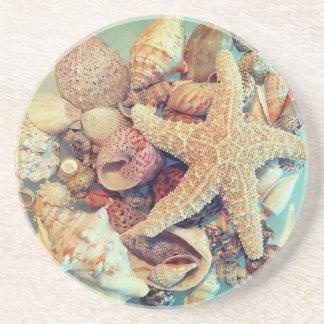 Starfish and Sea Shells 2 - Coaster