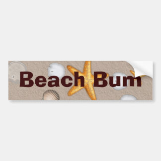 Starfish and Seashells Beach Theme Gifts Bumper Sticker