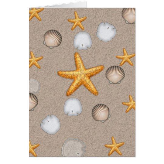 Starfish and Seashells Beach Theme Gifts Card