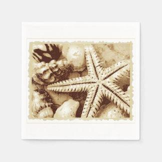 Starfish and Seashells Paper Napkins
