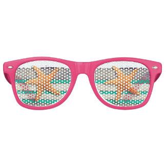 Starfish and Weathered Planks Beach Retro Sunglasses