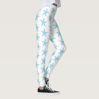 Starfish Aqua Blue Leggings