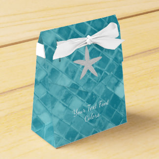 Starfish Aqua Sea Glass Personalize Favour Box