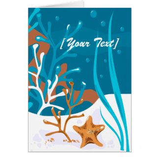 Starfish Aquatic Aqua Greeting Card