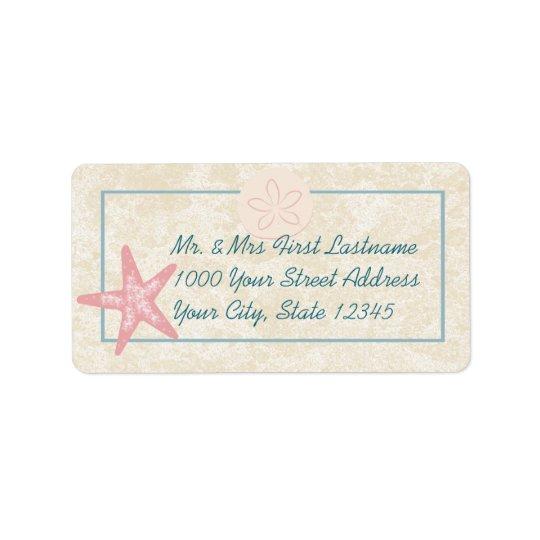 Starfish Beach Address Label