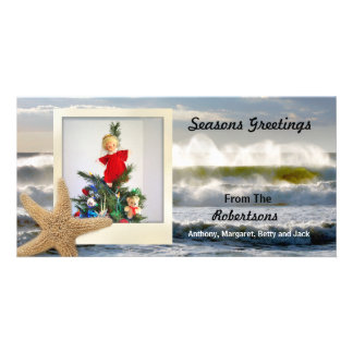 Starfish Beach Christmas 2 Card