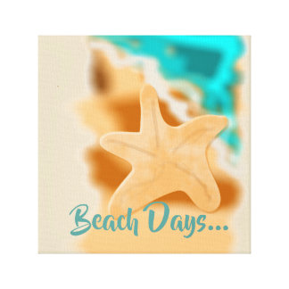 Starfish Beach Days Canvas Print