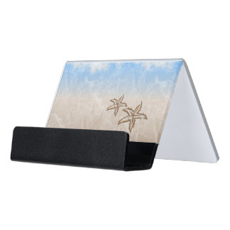 Starfish Beach Desk Business Card Holder