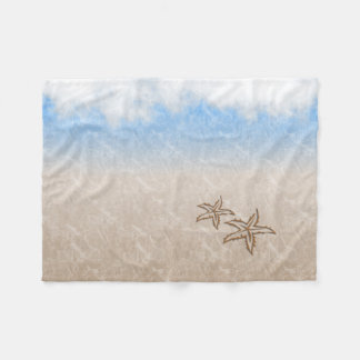Starfish Beach Fleece Blanket