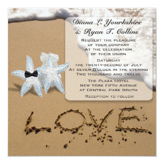 Starfish Beach Love Invitation