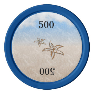 Starfish Beach Poker Chips